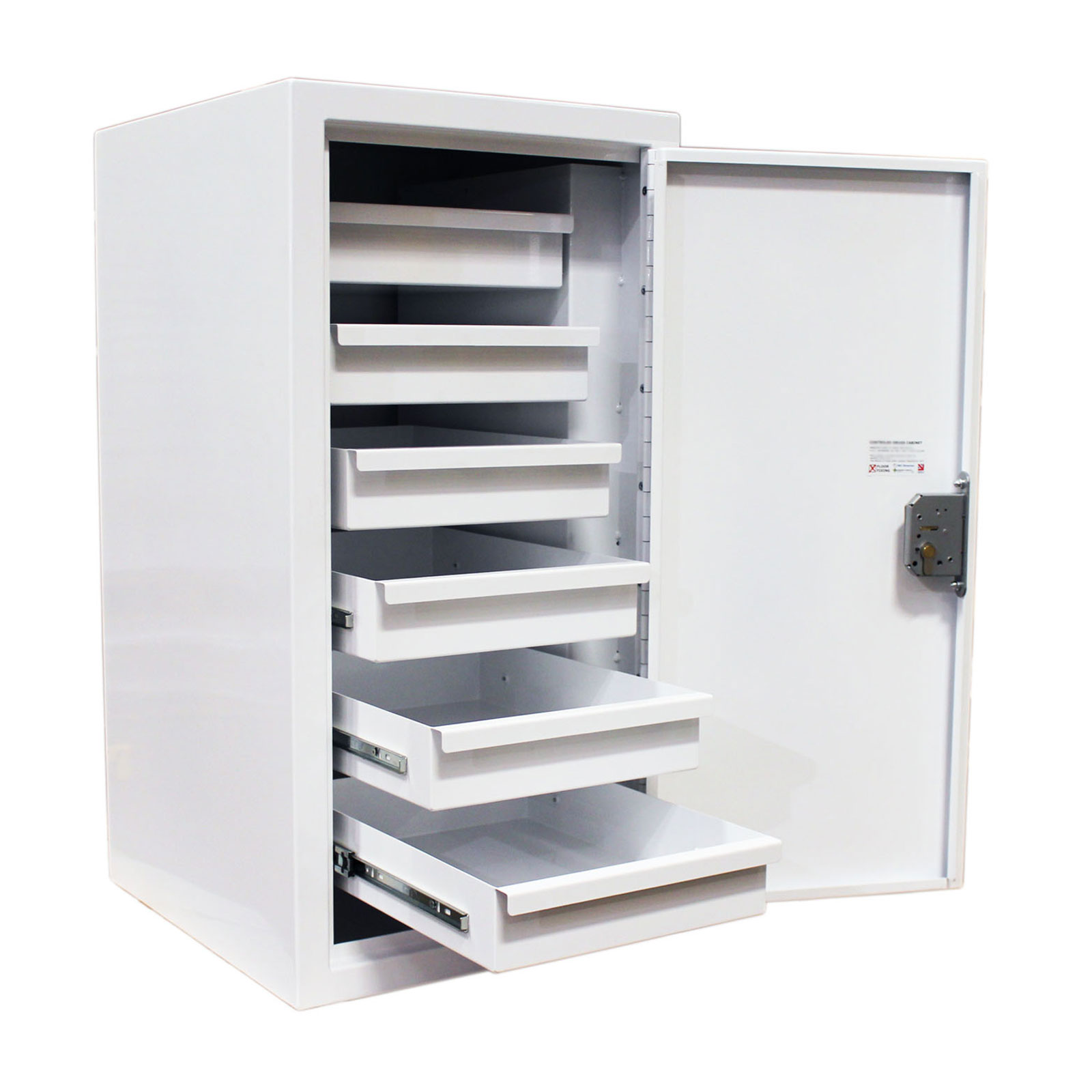 Controlled Drugs Cabinet | 129 Litres with Six Drawers