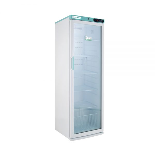 Free-standing phramacy frideg with glass door