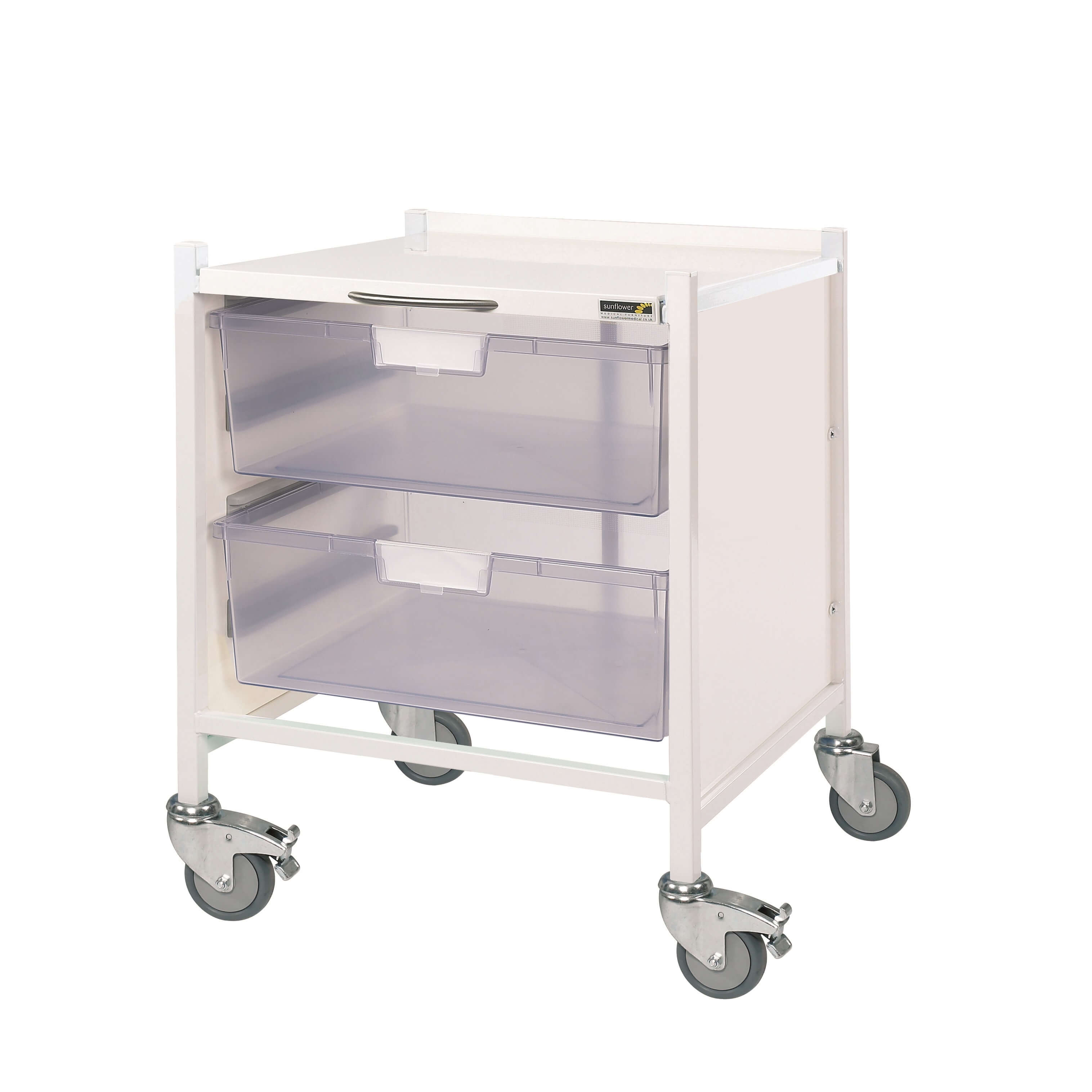 Vista 15 Trolley - Two Double Clear Trays
