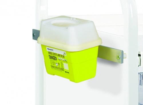 Sharps Box Bracket (Frontier) up to 1 Litre includes Medi-Rail