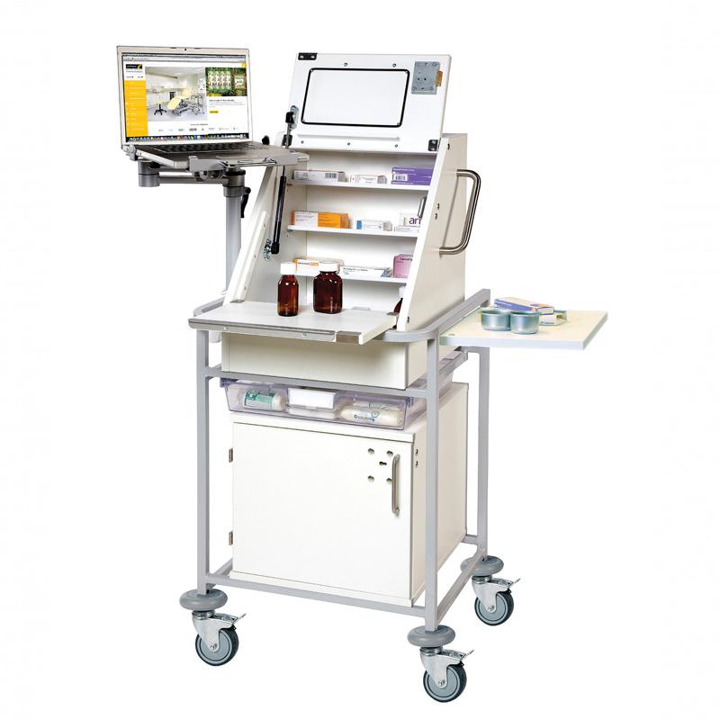 Ward Drug & Medicine Dispensing Trolley for Laptop